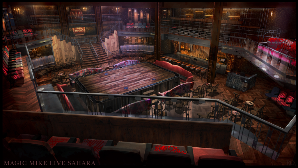 Magic Mike Live Theater Rendering