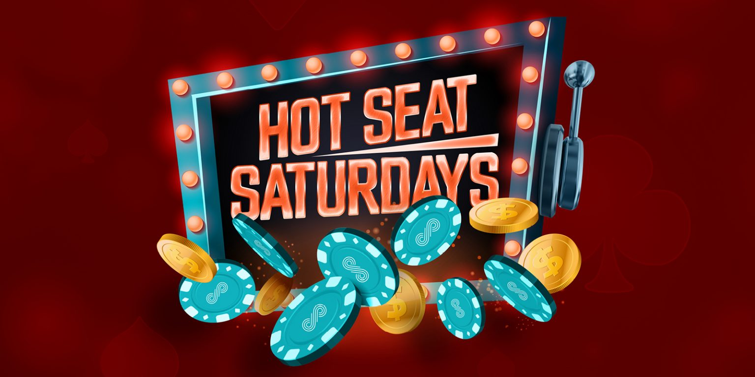 Hot Seat Saturdays - creative has chips coming out of slot machine