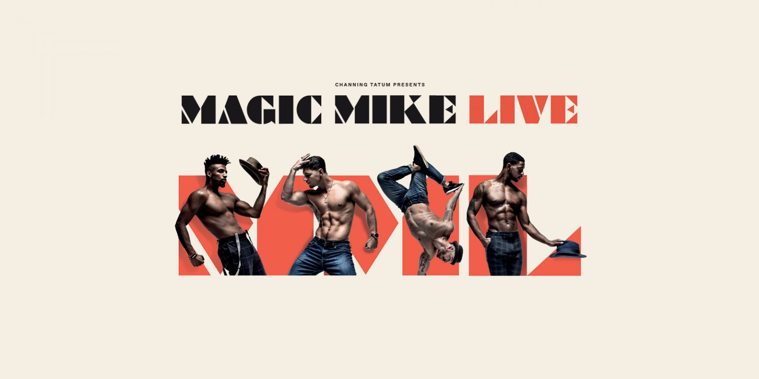 Shirtless Magic Mike Live performers in different poses