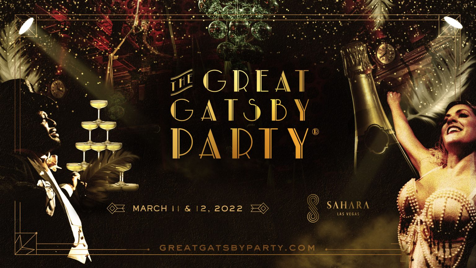 The Great Gatsby copy against a black background