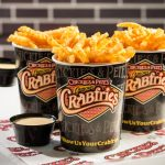 Crabfries with cheese sauce